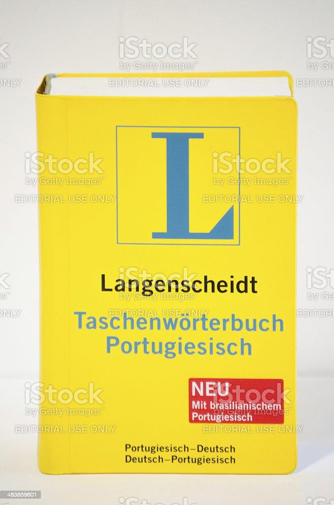 Langenscheidt German - Portuguese Dictionary stock photo