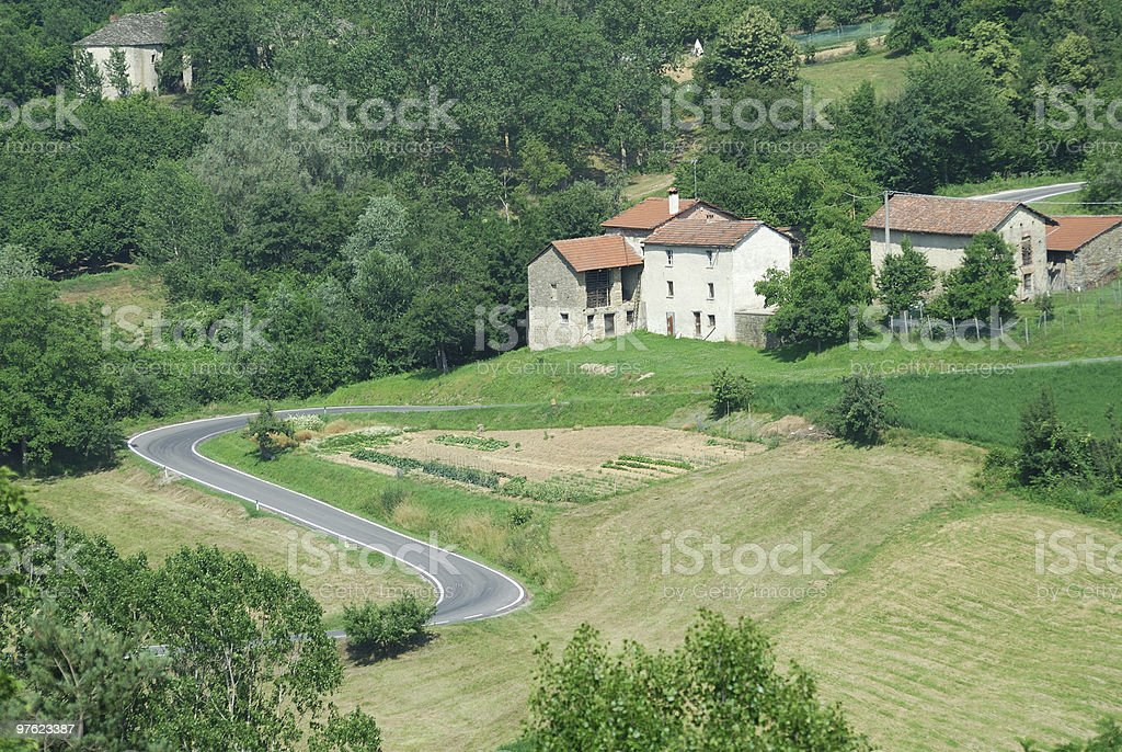Langhe (Piedmont) - Landscape at summer royalty-free stock photo