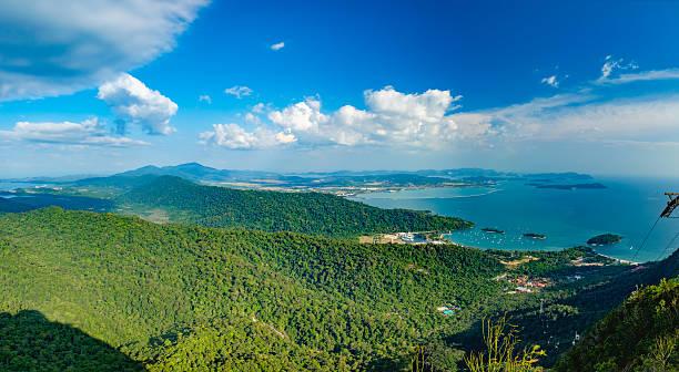 langkawi island landscape, malaysia - malakka staat stockfoto's en -beelden