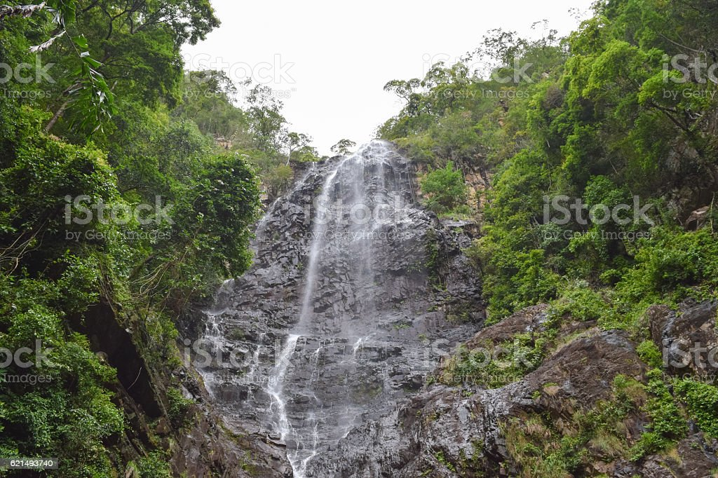 Langkawi island wild nature. Jungle and Temurun waterfall in Malaysia foto stock royalty-free