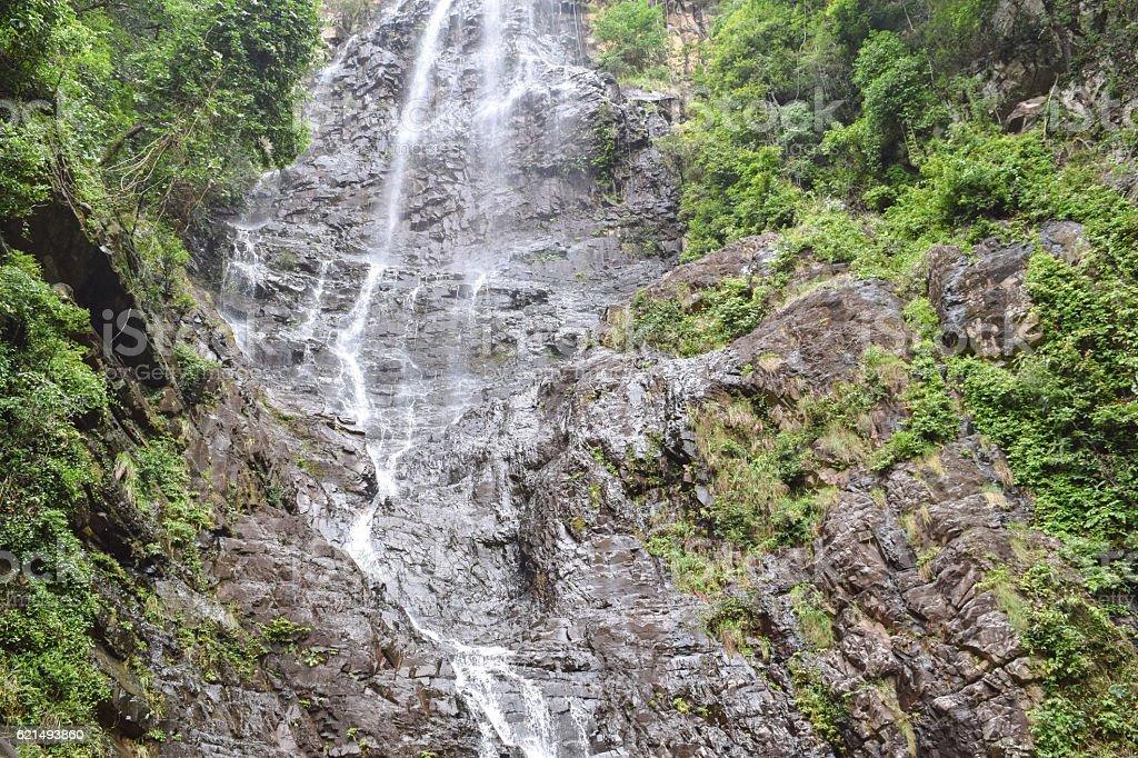 Langkawi island wild nature. Jungle and Temurun waterfall in Malaysia Lizenzfreies stock-foto