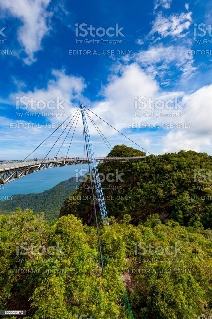 langkawi sky bridge, malaysia stock photo