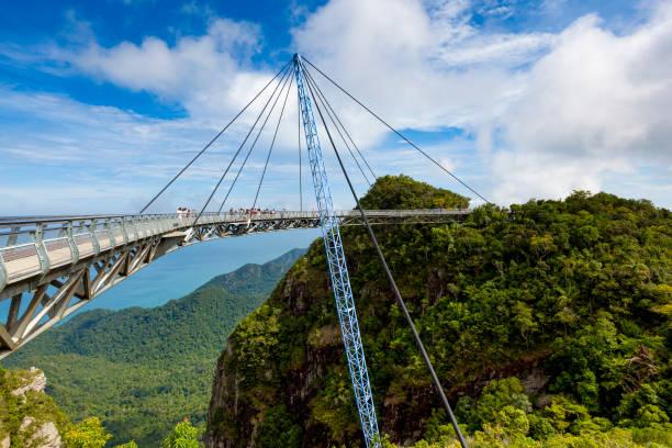langkawi sky bridge, malaysia - baumwipfelpfad stock-fotos und bilder