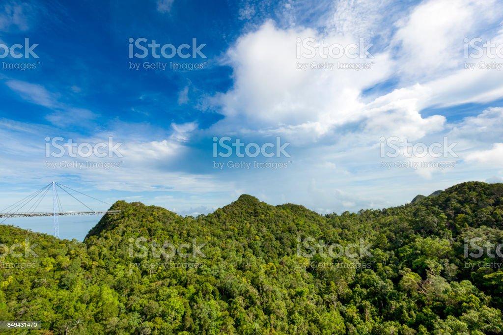 langkawi skybridge panorama stock photo