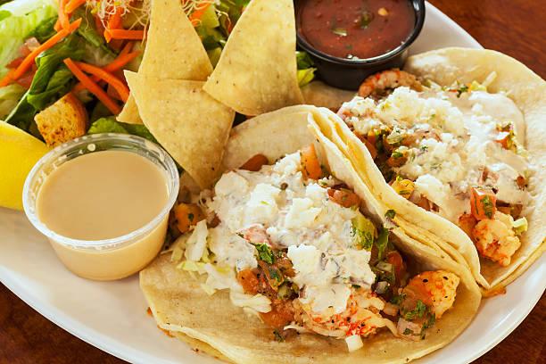 langostino tacos, auch als Garnelen-tacos – Foto