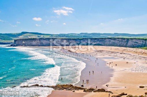 Langre beach at Cantabria, Spain.