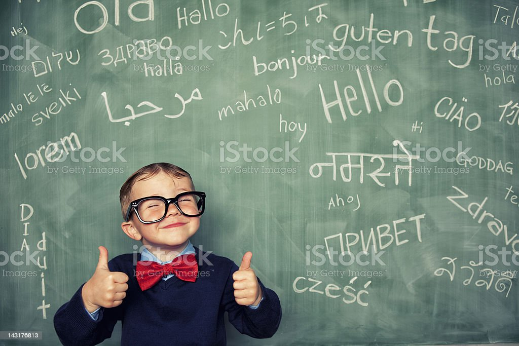 Language Master stock photo