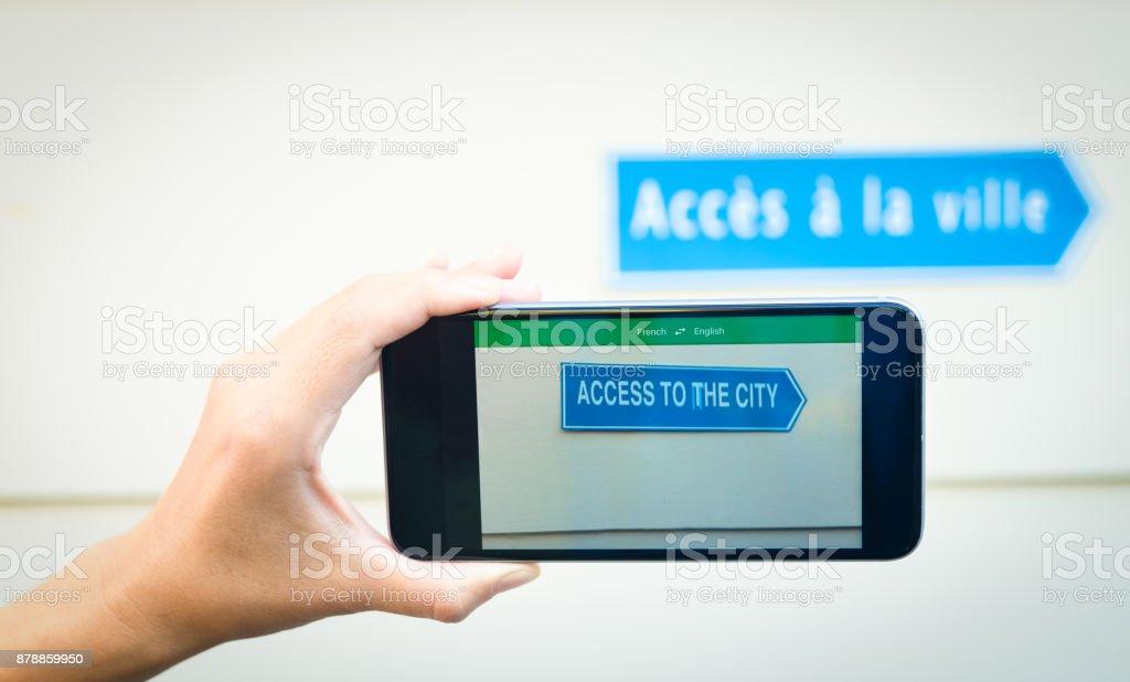 Language Translation App. stock photo
