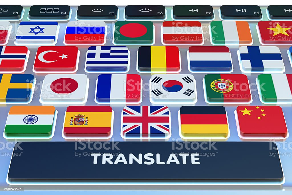 Languages translation concept, online translator – Foto