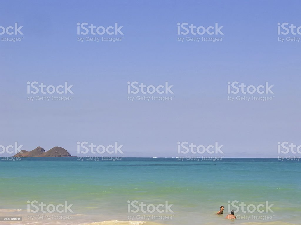 Lanikai-Strand, Insel Oahu, Hawaii. Lizenzfreies stock-foto