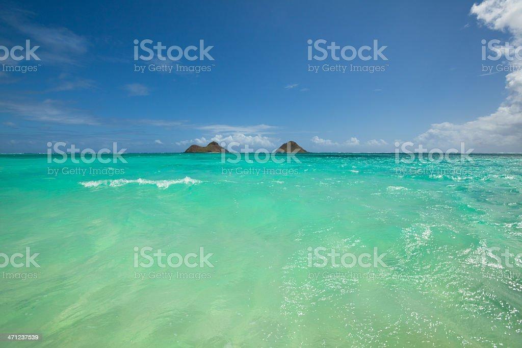 Lanikai Beach with turquoise ocean, Hawaii royalty-free stock photo