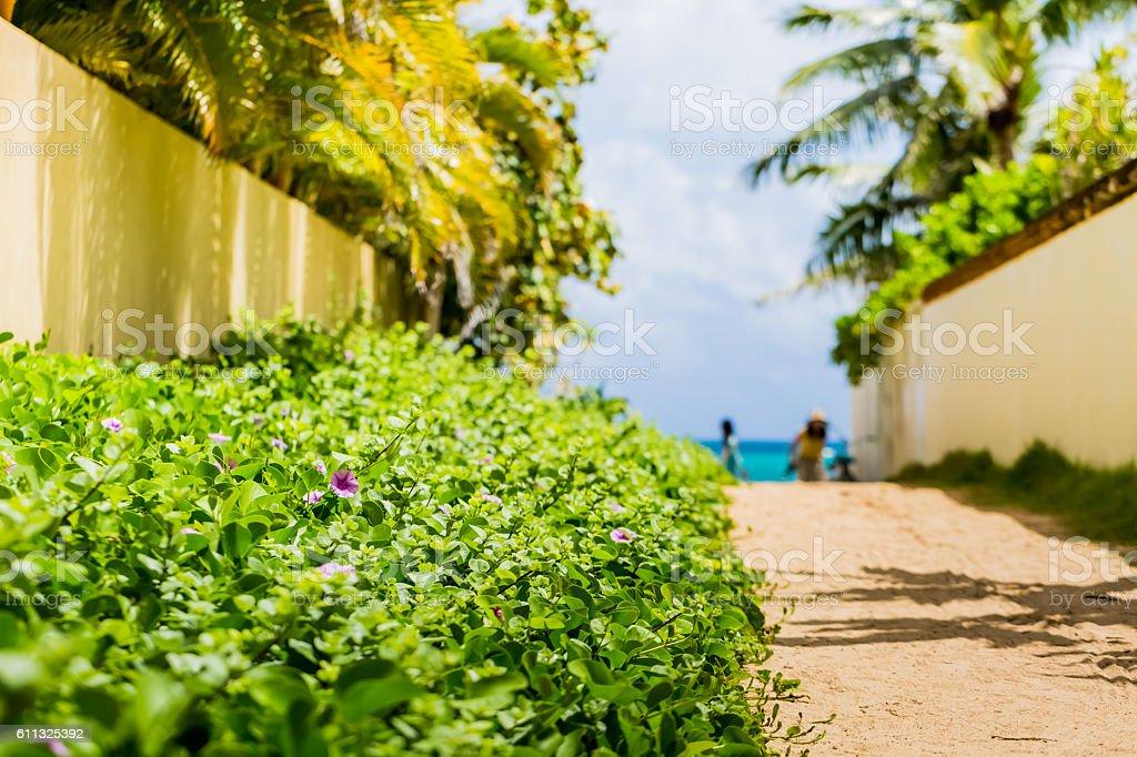 Lanikai in Oahu Island stock photo