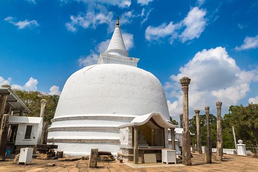 Lankaramaya dagoba (stupa) in a summer day, Sri Lanka