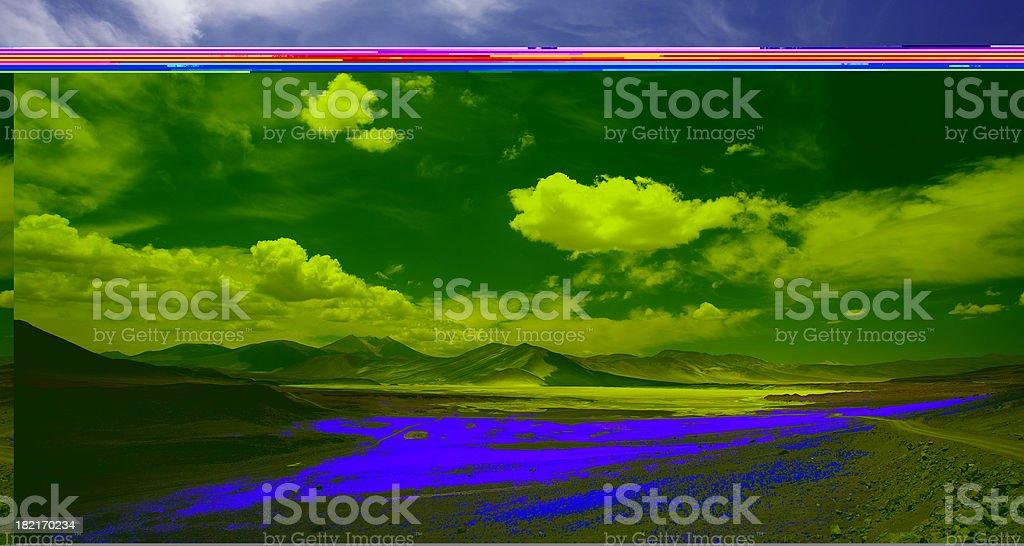 Lanscape in Salar de Altiplano - Atacama, Chile royalty-free stock photo