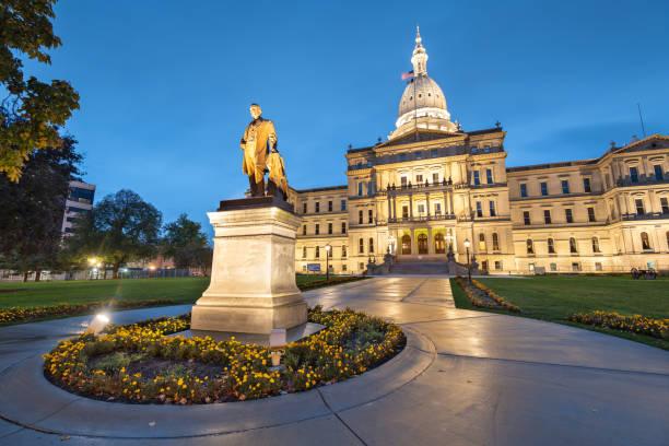 Lansing, Michigan, USA at the Michigan State Capitol stock photo