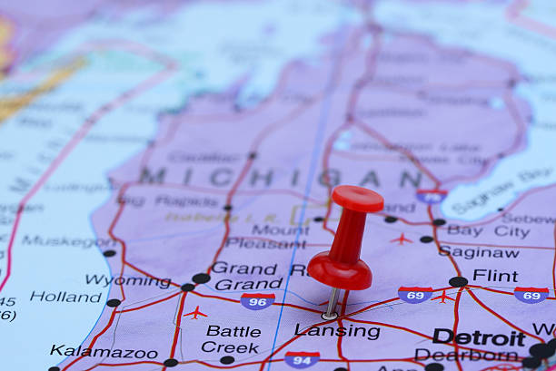 Michigan Map Pictures Images And Stock Photos IStock - Michigan on map of usa