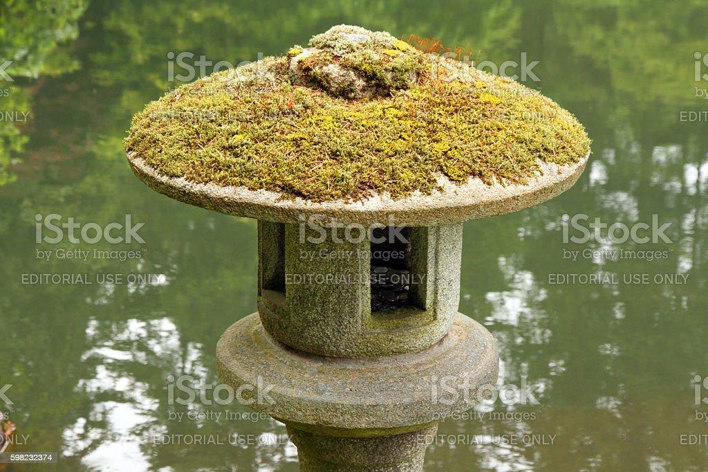 Lantern at the Pond foto royalty-free
