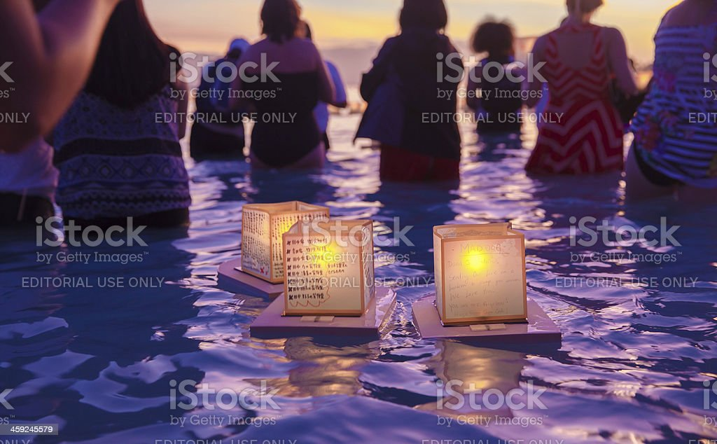 Lantern Floating Festival stock photo