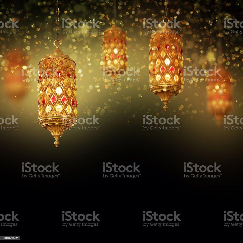 Lantern Ideal for Ramadan concept - Photo
