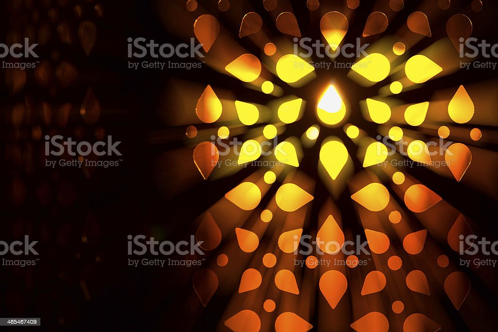lantern in the darkness royalty-free stock photo