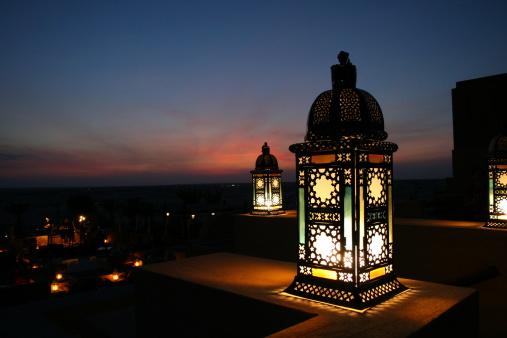 istock Lantern in the desert 90786850