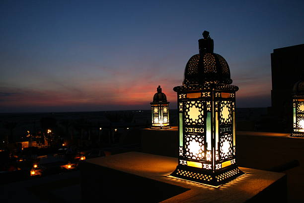 Lantern in the desert  arabic style stock pictures, royalty-free photos & images
