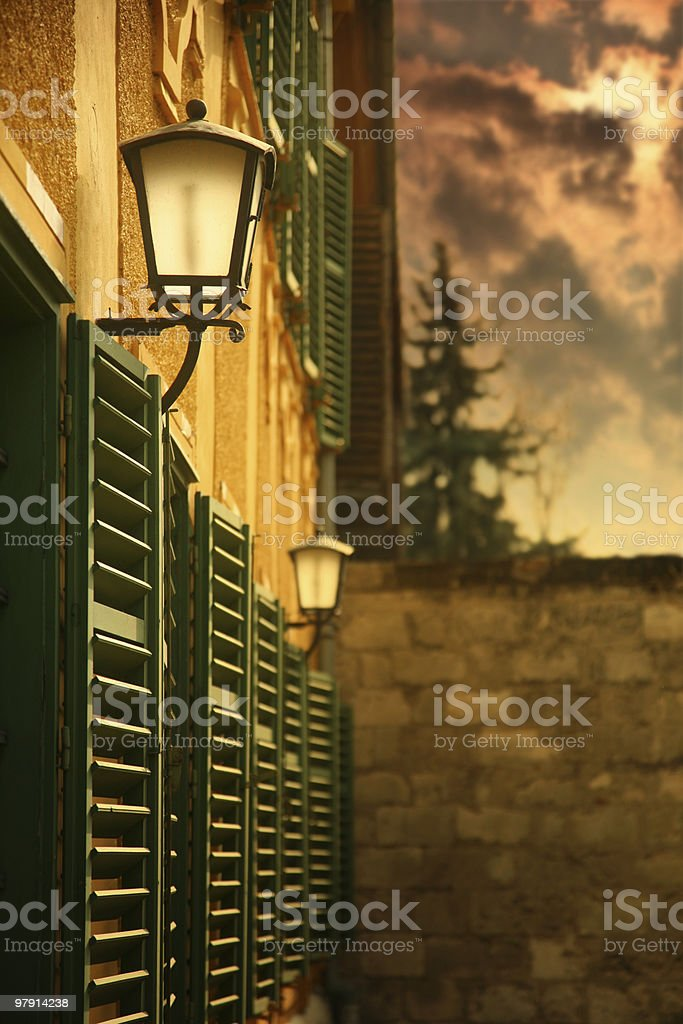 lantern in the twilight royalty-free stock photo