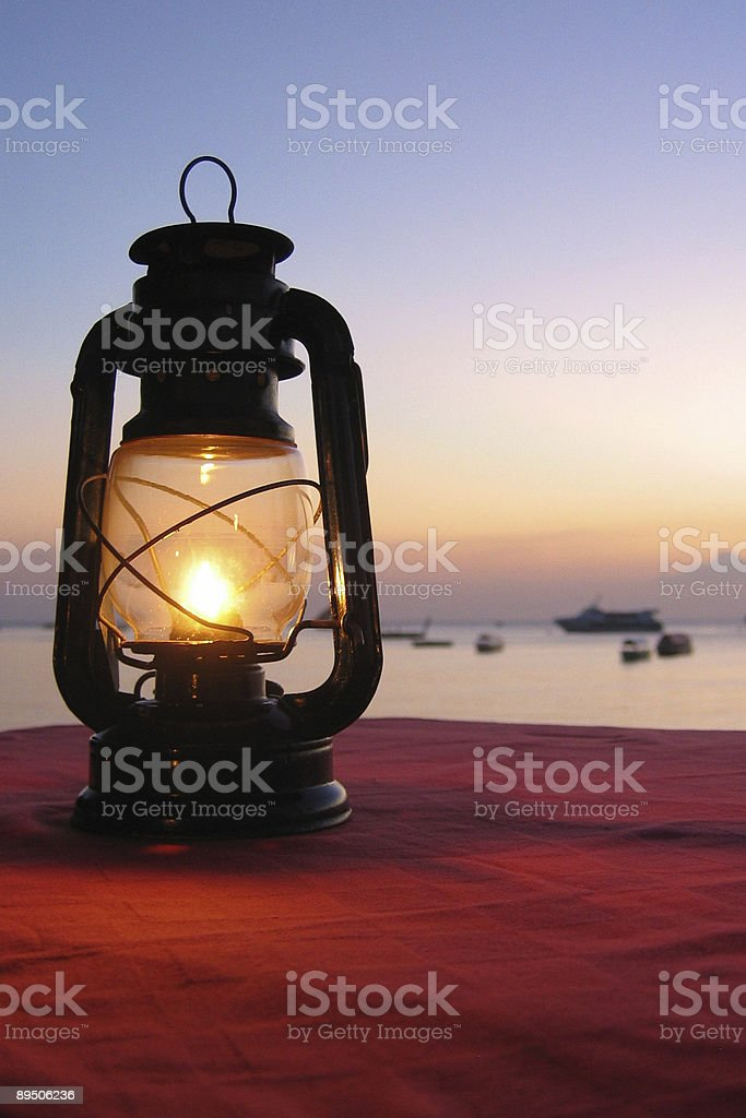 Lantern in Zanzibar royalty-free stock photo