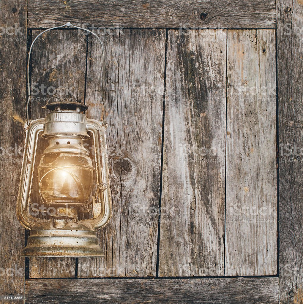 lantern lamp wooden wall table background stock photo