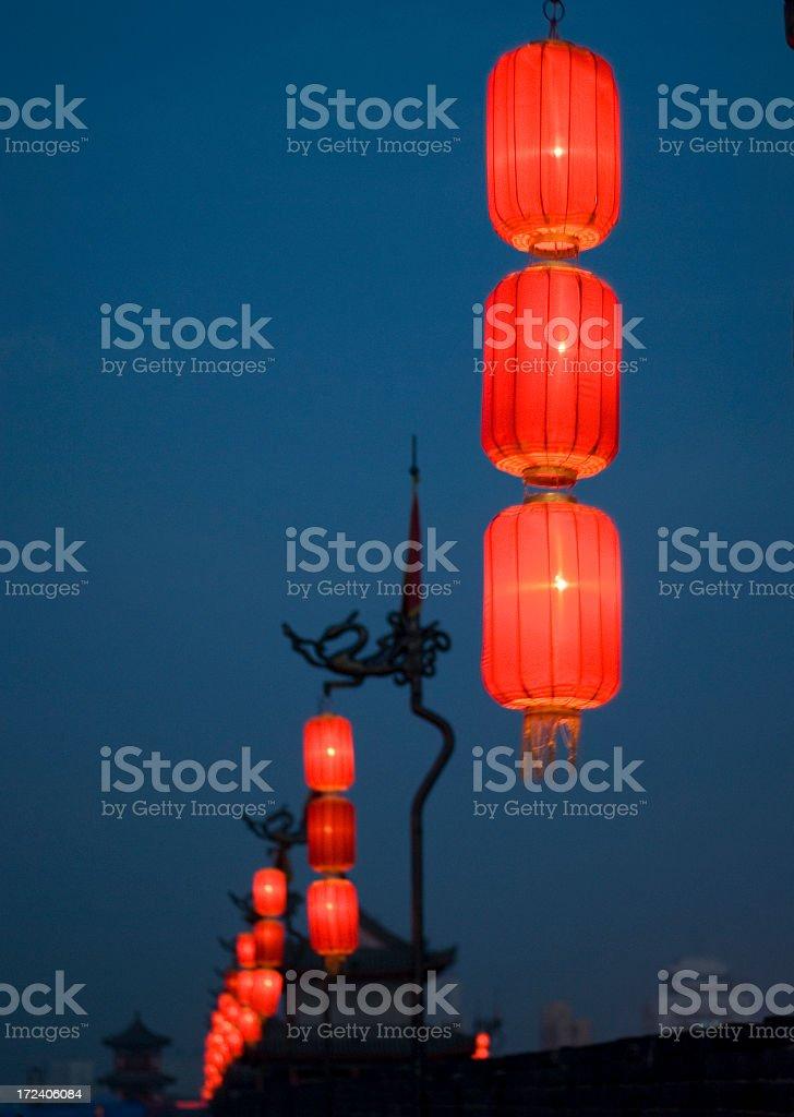 Lantern Line royalty-free stock photo