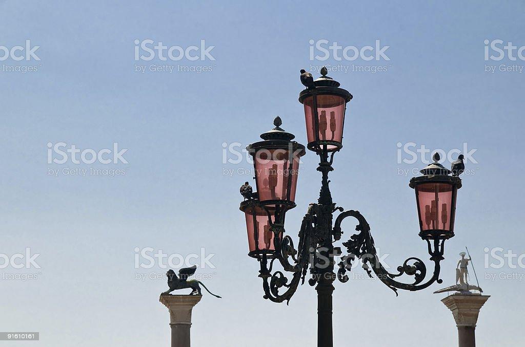 Lantern on San Marco in Venice royalty-free stock photo