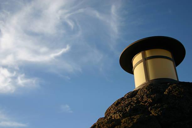 Lantern on the Sky stock photo