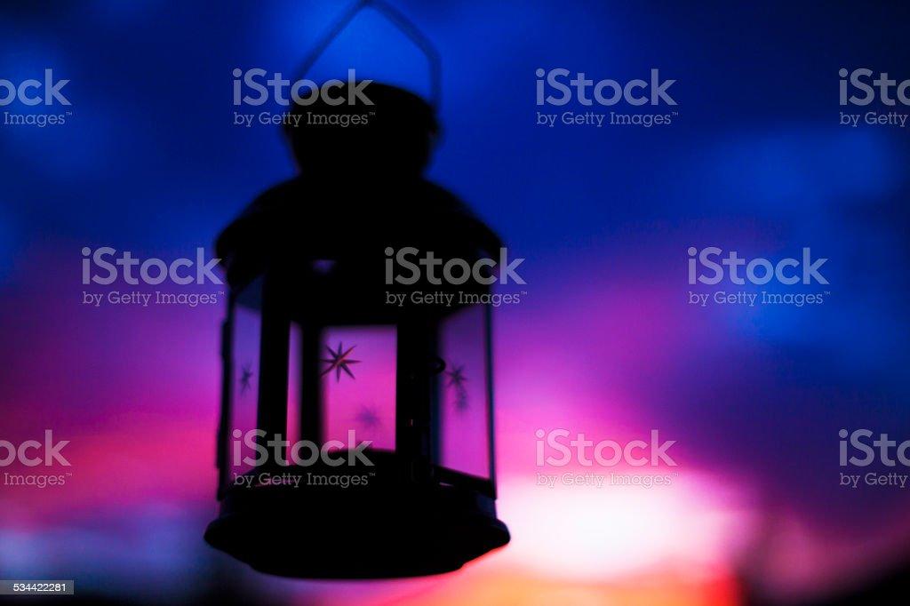 lantern sillhouette stock photo