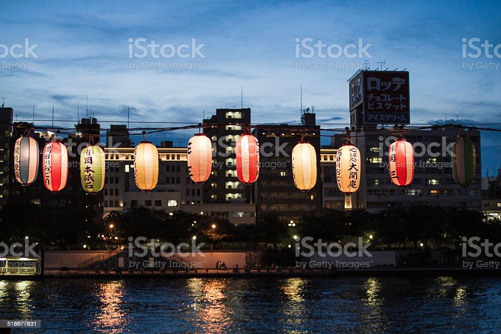 Lanterne giapponesi - foto stock