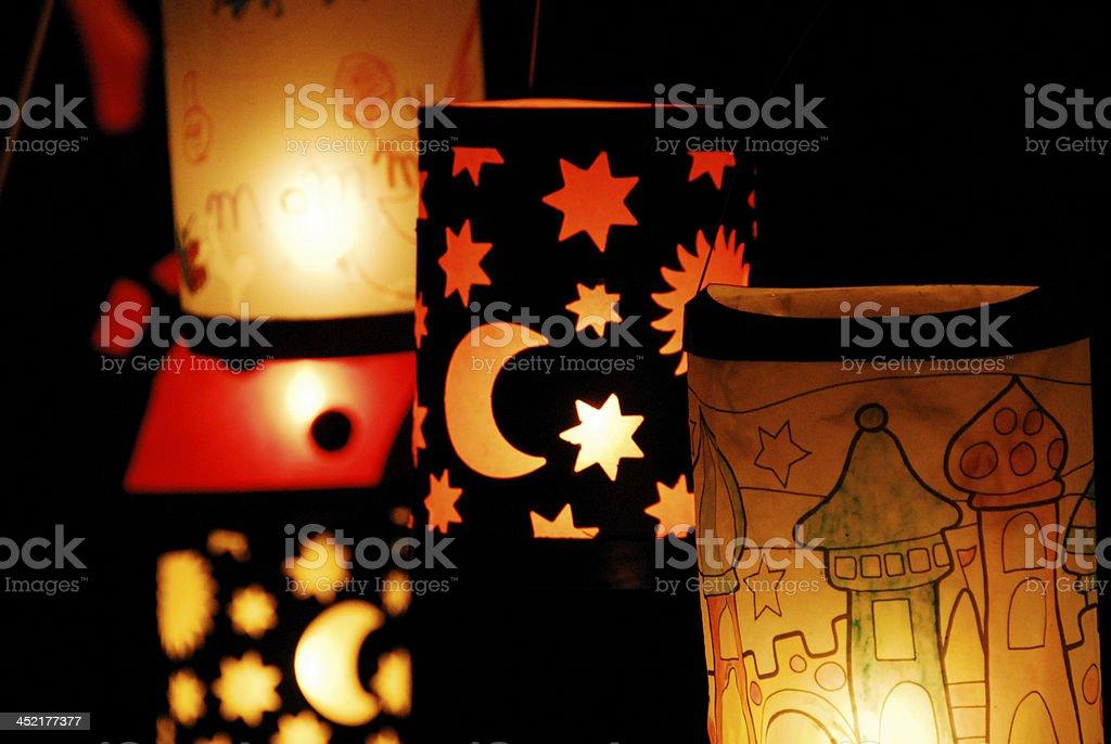 Lanterns for the Celebration of St. Martin stock photo