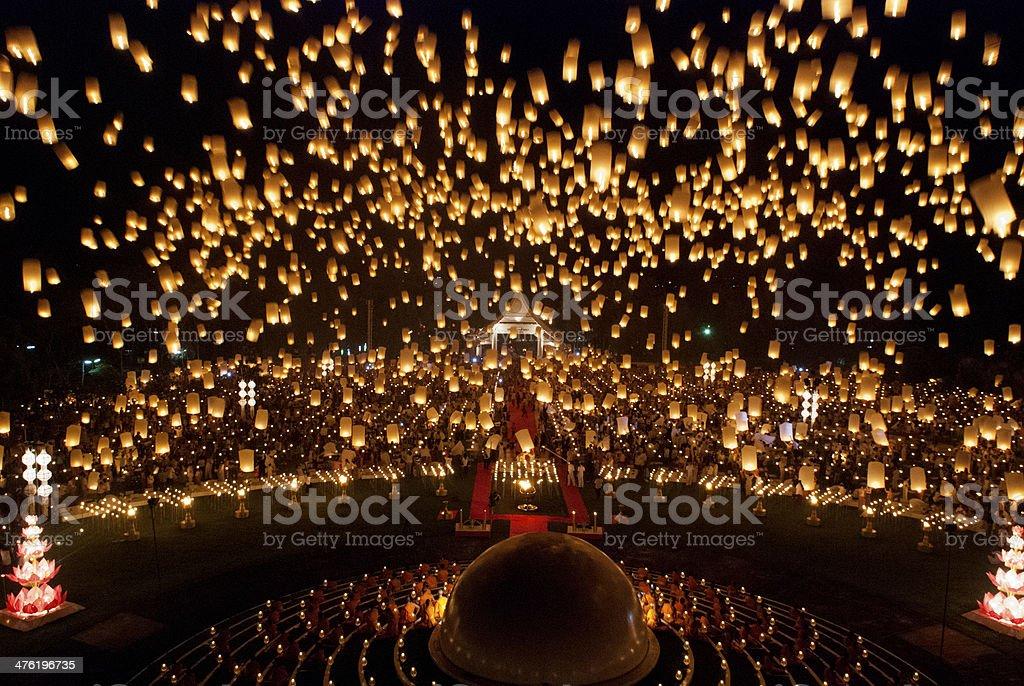 Lanterns of Joy stock photo