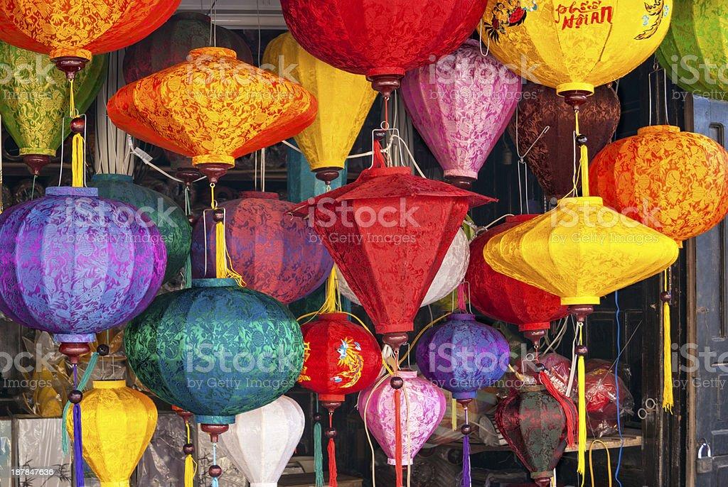 Lanterns on Hoi An stock photo