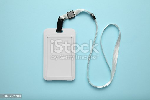istock lanyard badge blank, card id pass. Business authorization 1164707788