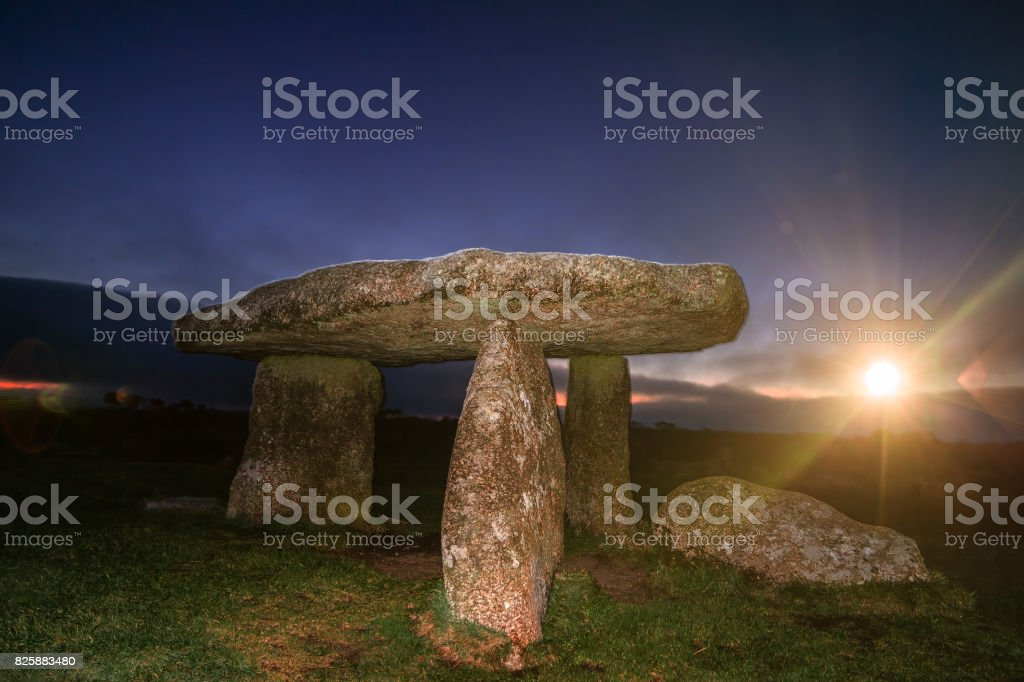 Lanyon Quoit Cornwall England UK stock photo