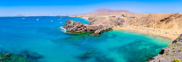 Lanzarote, Canary Islands - Playa Papagayo stock photo
