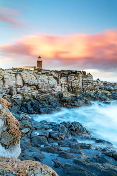 Lanzarote - Küste mit einem alten Leuchtturm – Foto