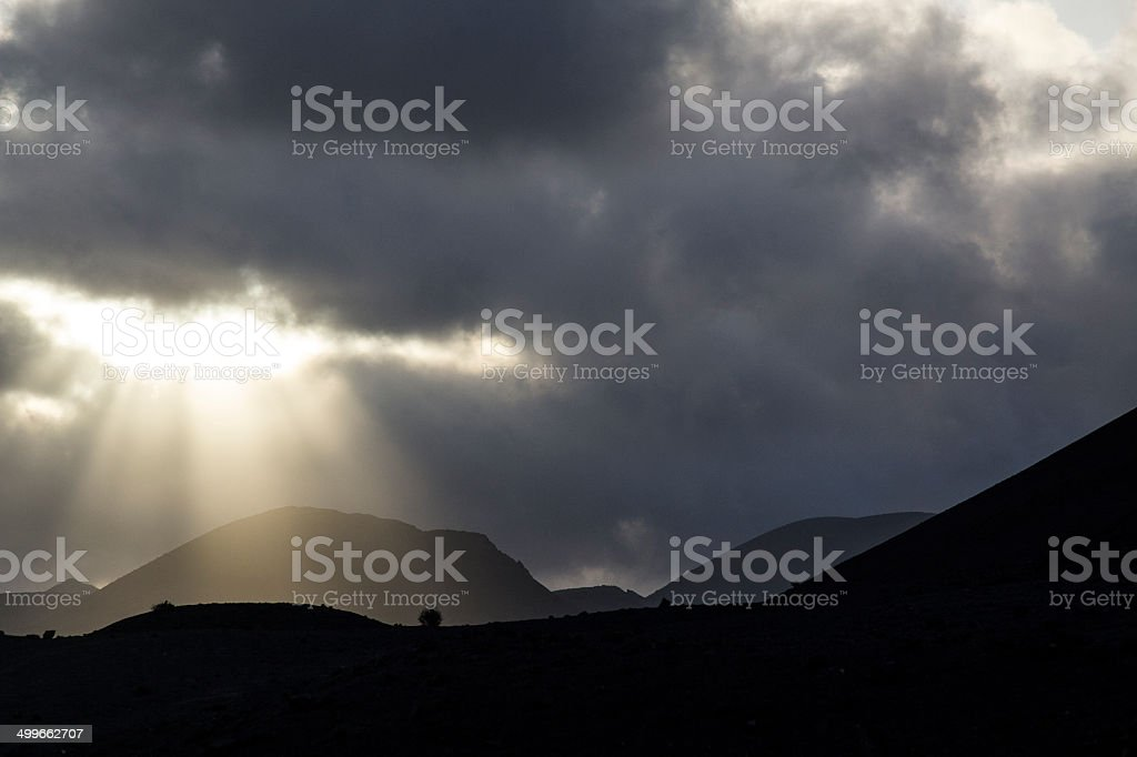 Lanzarote, Montanas del fuego stock photo