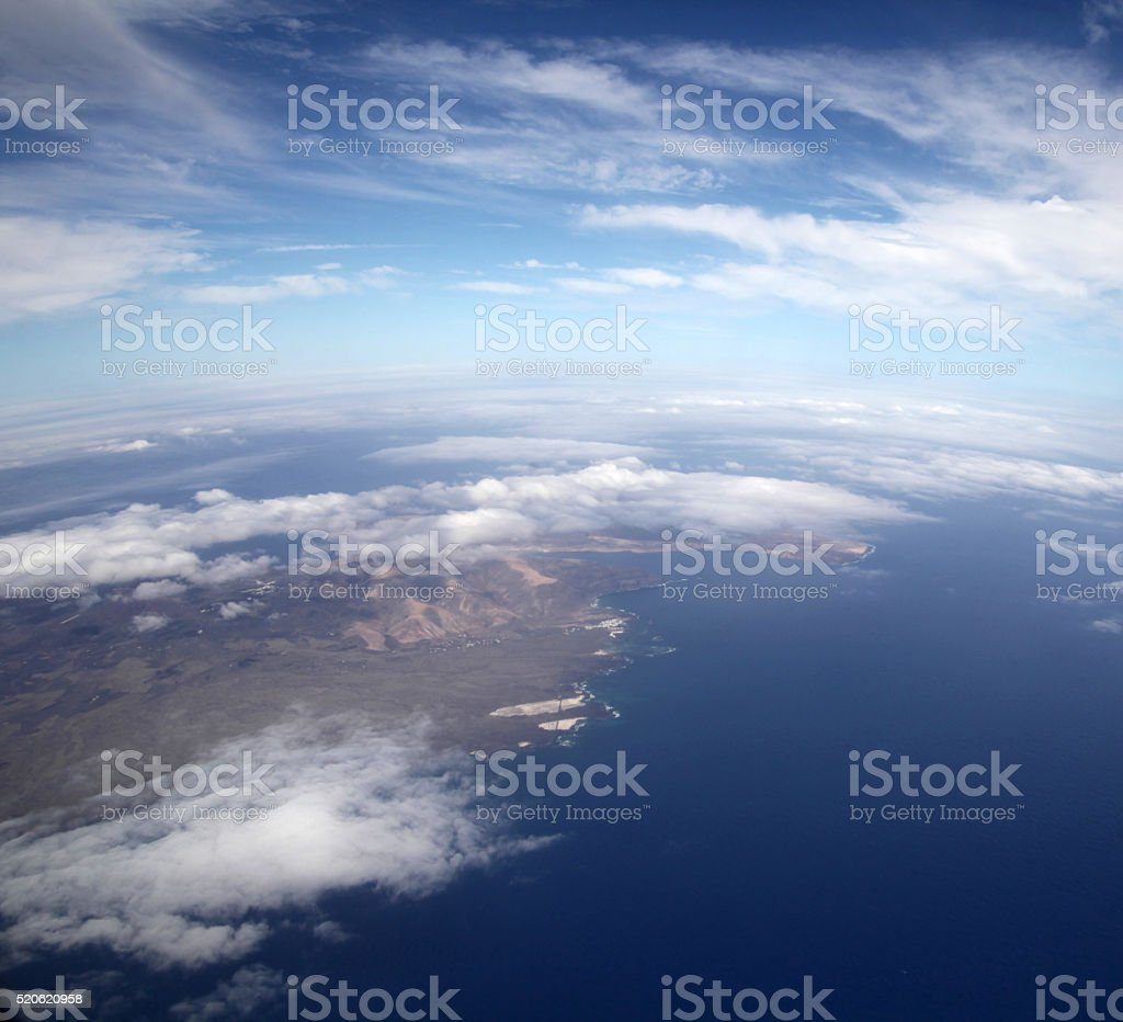 Lanzarote from above stock photo
