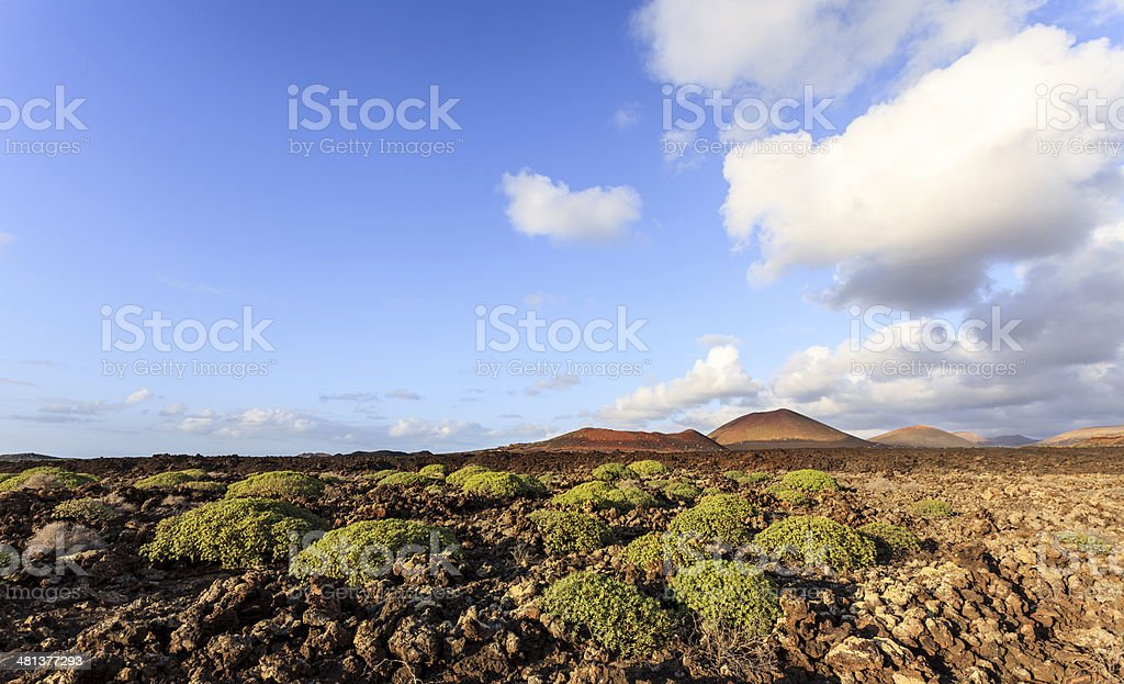 Lanzarote iconic montanas del fuego in the Timanfaya national park stock photo