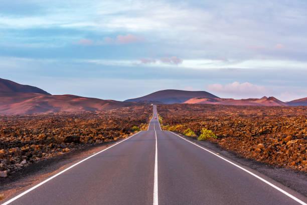 Lanzarote - Straße zum Timanfaya Nationalpark – Foto