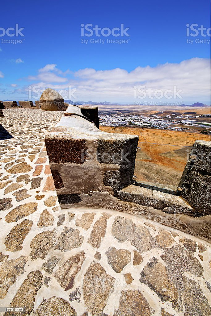 lanzarote  spain the old wall  door  in teguise arrecife royalty-free stock photo