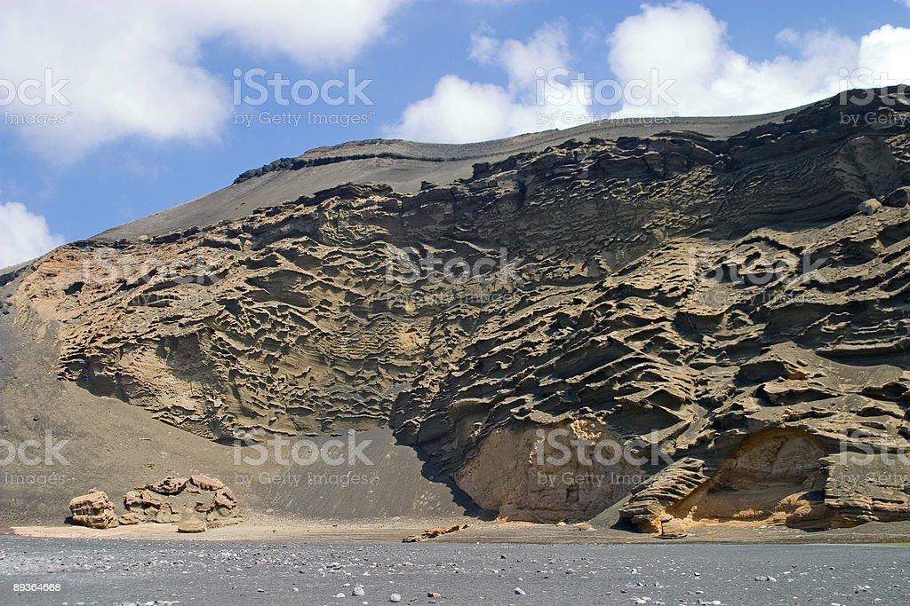 Lanzarote volcanic lava rock royalty-free stock photo