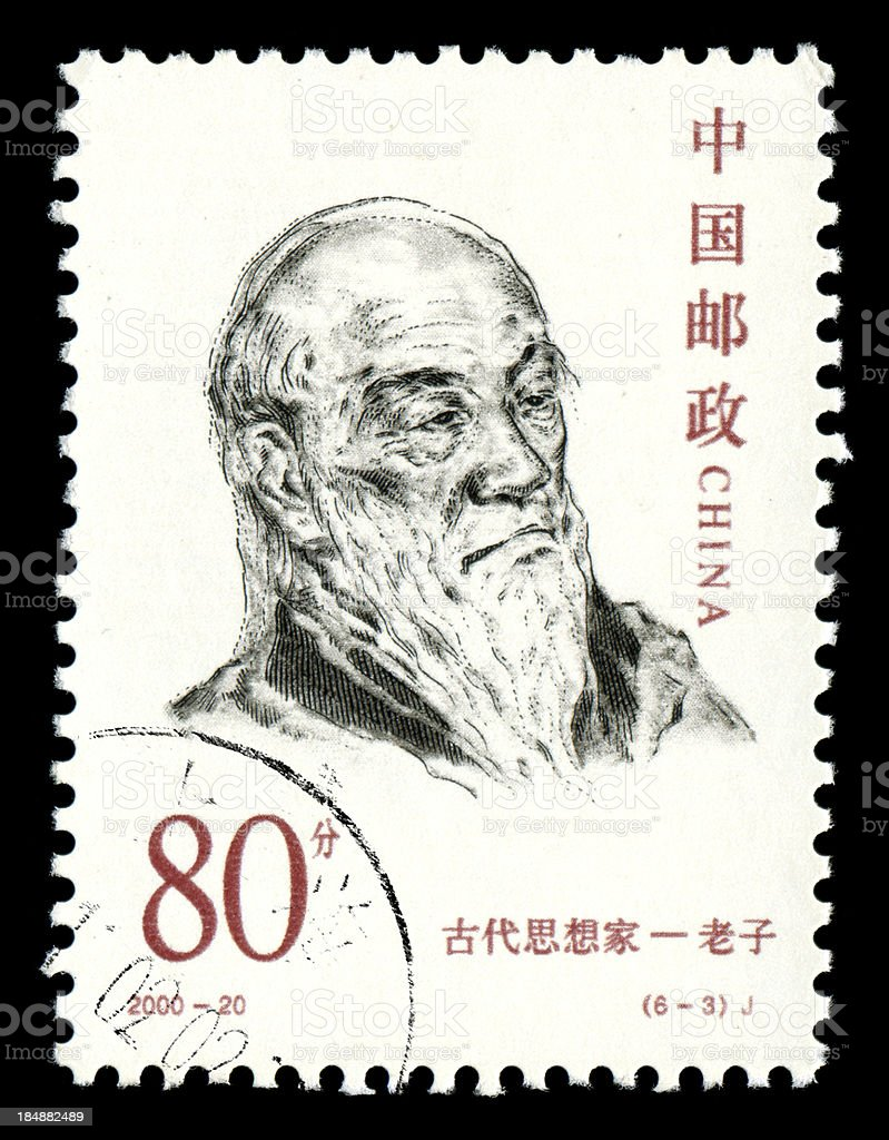 Lao Tse , Ancient Chinese philosopher stock photo