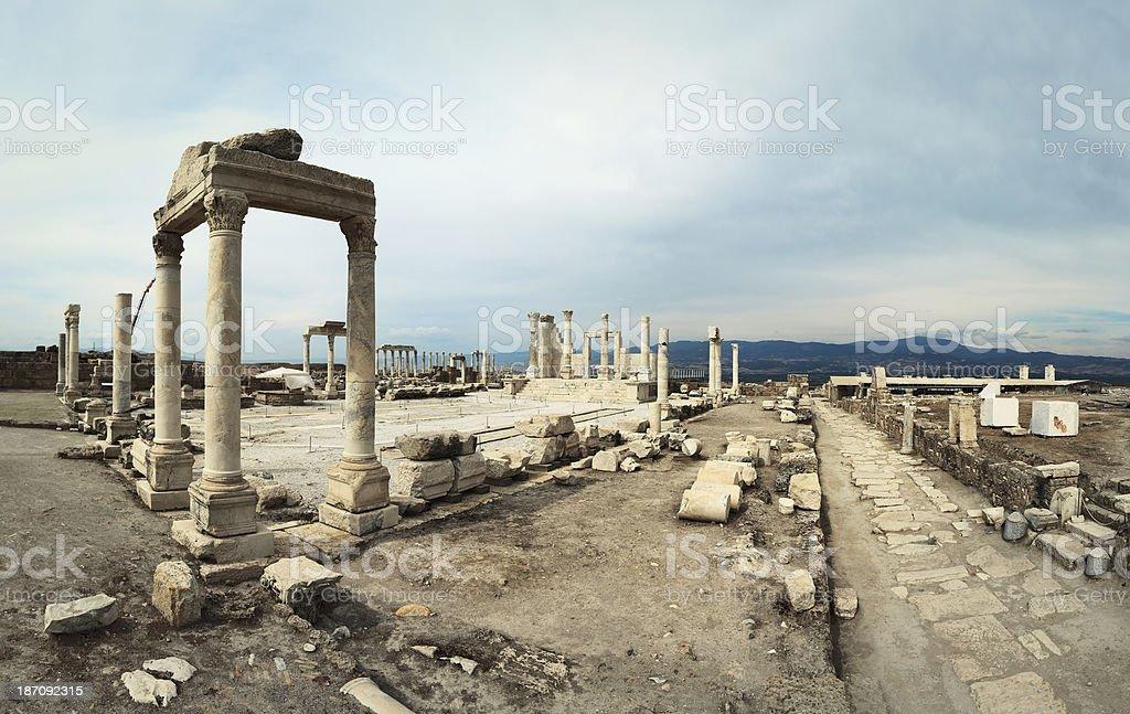 Laodiceia Ad Lycum , Temple of Zeus - Panoramic royalty-free stock photo