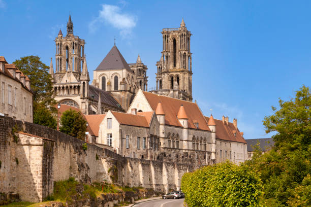Laon Cathedral stock photo